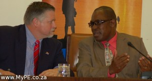 Kevin Hustler and Mayor Xanoxolo Wayile