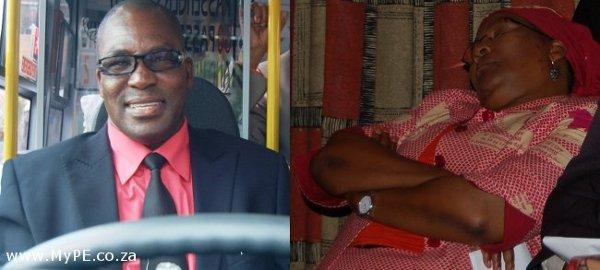 Mayor Zanoxolo Wayile and Deputy Mayor Nancy Sihlwayi