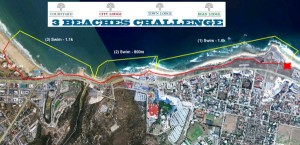 3 Beaches Challenge Route