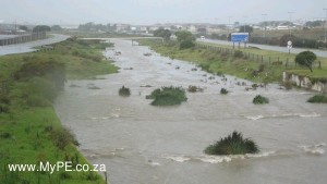 The storm water canal outside Eveready
