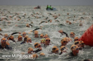 Ironman swim Mark number 3 rounding