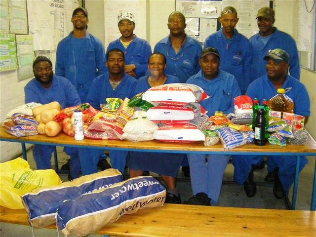 The Eveready team handover goods raised from the auction.