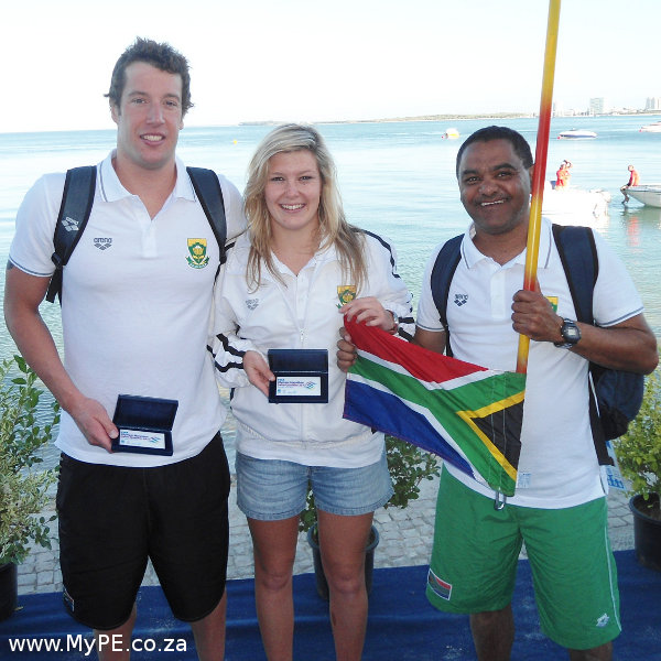 Troyden Prinsloo, Jessica Roux and Cedric Finch