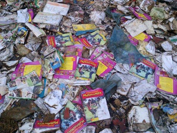 Destroyed Textbooks