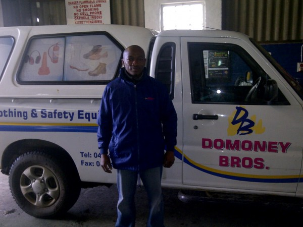 Vakele from Domoney Brother filling up with biodiesel at Greentech Biofuels.