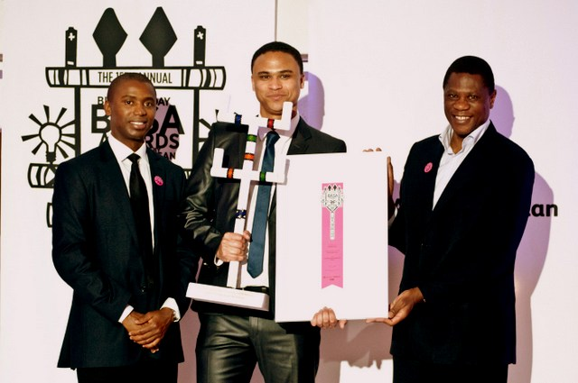 Magnetic Storm's Liam Prince receiving the SPONSORSHIP IN KIND Award from BASA