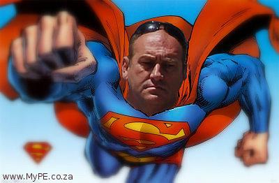 PE's Superman Traffic Cop