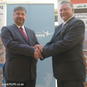 Hisham Al-Alawi shared with Business Chamber CEO Kevin Hustler
