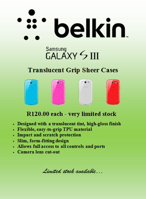 Belkin Galaxy S III Translucent Grip Sheer Cases