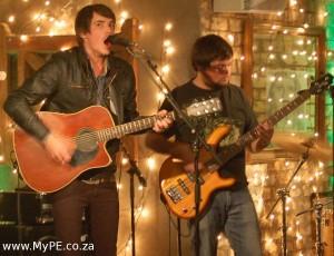 Stuart Reece on accoustic guitar and Barry Killian on bass guitar