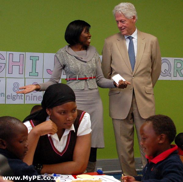 Bongisa and Bill Clinton