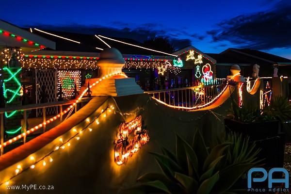 Christmas Light display in Brampton Road, Rowallan Park