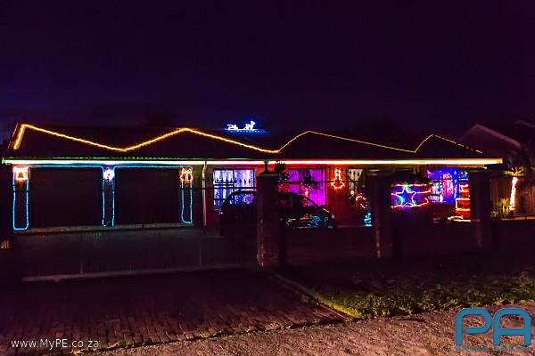 Christmas Light display in Rowan Street, Rowallan Park