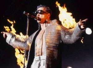 Till Lindemann on fire