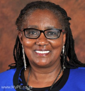 Connie September. Human Settlements Minister.