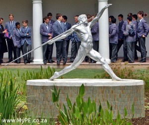 Grey High School Quad Statue