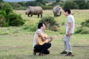 Thanh Bui and Tui Minh spending time with our rhino's