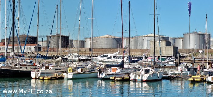 Shell Tank Farm in PE Harbour
