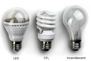 LED CFL Incandescent Bulbs