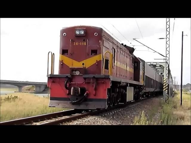 Class 34 at Swartkops Bridge in Port Elizabeth