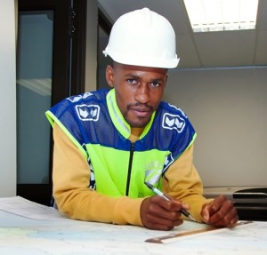 ENGINEERING EXCELLENCE: Gideon Machete is one of SANRAL's civil engineering bursary  graduates now gaining hands-on experience at the SANRAL Centre of Excellence design  academy in Port Elizabeth.