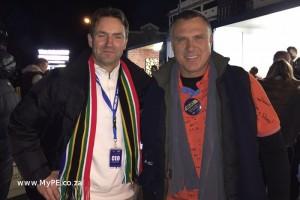 VWSA MD Thomas Schaefer and Mercedes Benz SA MD Arno van der Merwe