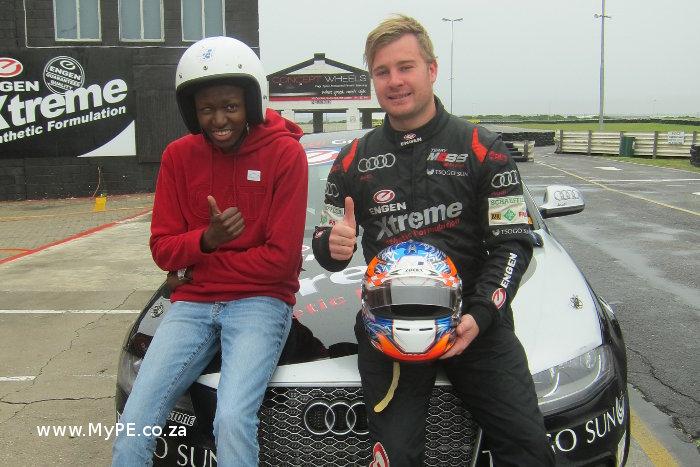 Simon Moss with Lonwabo Sila