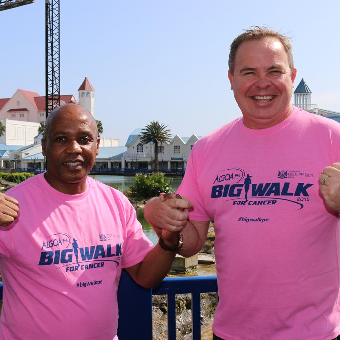 Eastern Cape leaders fighting cancer; from left is Eastern Cape Premier Phumulo Masualle and Dave Tiltmann (Managing Director of Algoa FM)