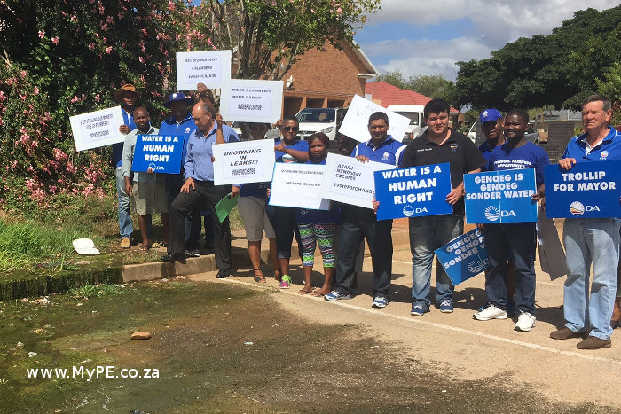Despatch Water Leaks Protest