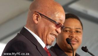 Jacob Zuma and Mlibo Qoboshiyane