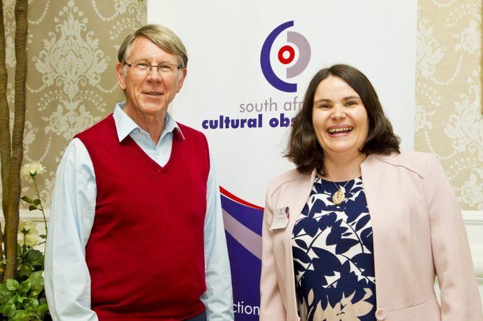 Prof Geoff Antrobus and Prof Jen Snowball (Rhodes) Photo: Michael Sheehan
