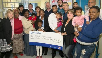 Engen dealers from the PE region hand over a cheque for R70 000 to the Smile Foundation