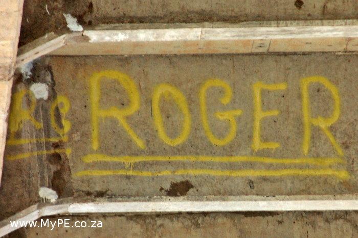 Van Stadens Bridge Graffiti - Roger