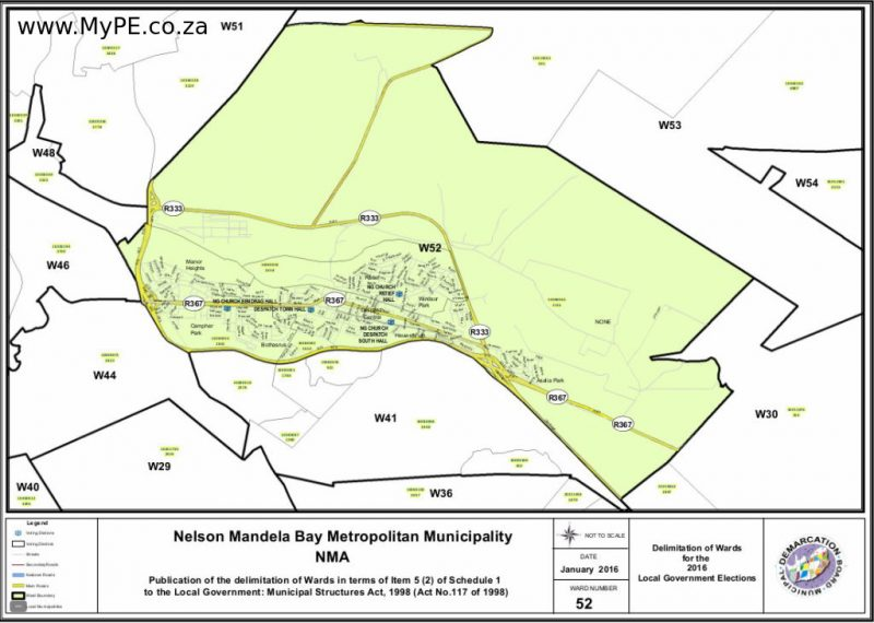 Ward 52: Manor Heights, Campher Park, Bothasrus, Despatch Central, Retief, Windsor Park, Heuwelkruin, Asalia Park