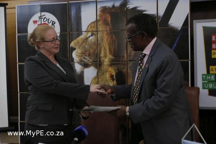 Fiona Miles and Mangosuthu Buthelezi