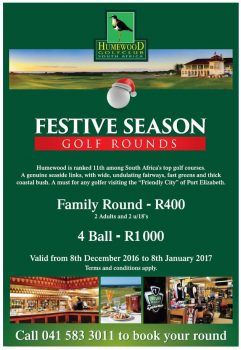 just one of the myriad specials on offer in port elizabeth this festive season.