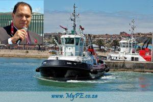 PE Tug Qunu - Inset. Port Captain Bryn Adamson