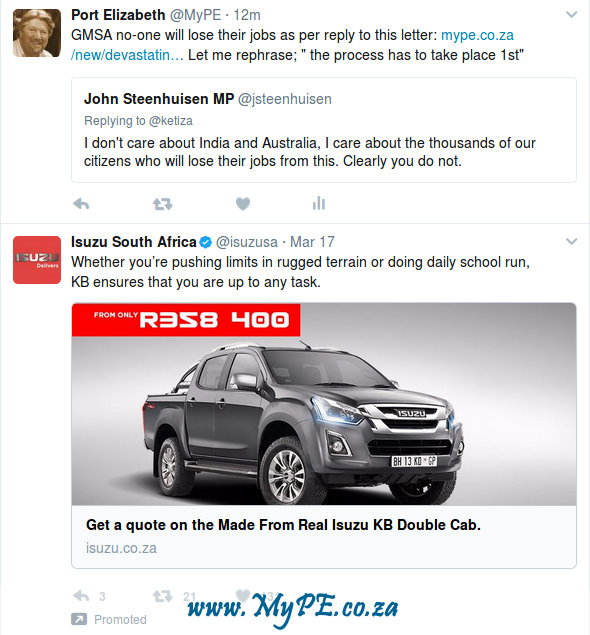 Isuzu Advert on Twitter