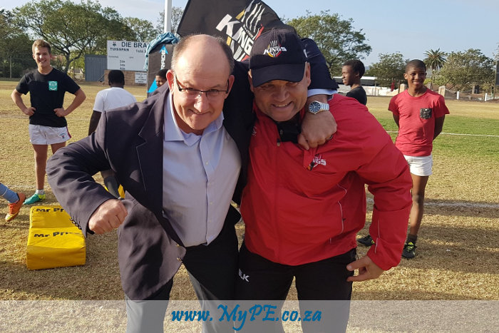 Athol Trollip and Deon Davids