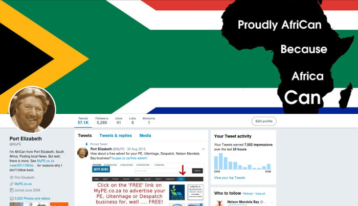 MyPE Twitter Profile - AfriCan