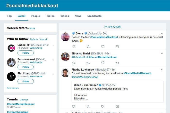 #SocialMediaBlackout