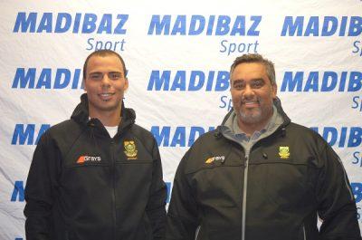Ignatius Malgraff and coach Cheslyn Gie