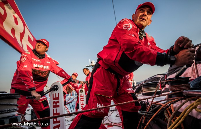 Prologue on-board MAPFRE. Photo by Jen Edney/Volvo Ocean Race. 10 October, 2017