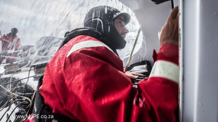 Leg 02, Lisbon to Cape Town, Day 1 on board Sun Hung Kai/Scallywag. Photo by Konrad Frost/Volvo Ocean Race. 06 November, 2017.