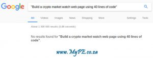 Build a crypto market watch web page using 40 lines of code