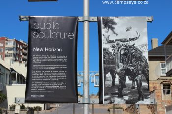 """new horizon"" public sculpture at donkin village"