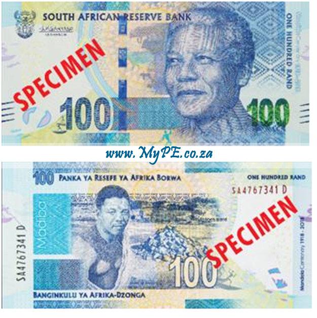 Nelson Mandela Commemorative R100 Banknote