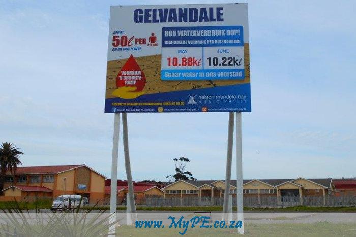 Gelvandale Water Consumption Billboard