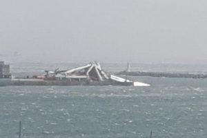 Port Elizabeth Container Crane Blown Over