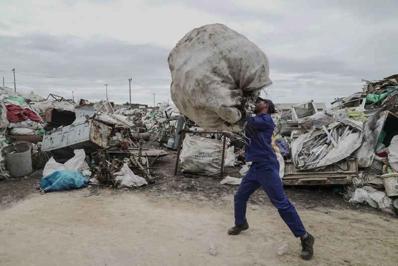 PLASTIC POWER: Nzima Recycling in Humansdorp, Eastern Cape, started with an average of 9 tonnes of PET in 2017 and is currently processing 20 tonnes every month. The business buys in PET plastic from landfill sites and the local community. (Image: supplied)